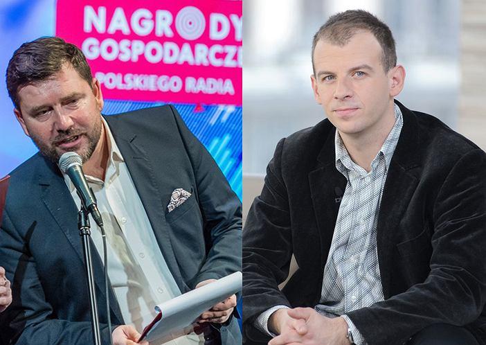 Zastępca dyrektora Trójki Wojciech Surmacz (z lewej) i dyrektor redaktor naczelny  Wiktor Świetlik (z prawej)