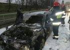 Po�ar samochodu zablokowa� wjazd na most Gda�ski