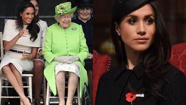 Królowa Elżbieta współczuje Meghan Markle problemów z rodziną. Bardzo ją wspiera