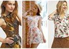 Bluzki, sukienki i spodnie w kwiaty