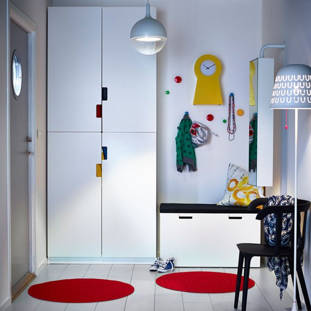 przechowywanie w przedpokoju szafy i wieszaki. Black Bedroom Furniture Sets. Home Design Ideas