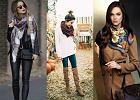 Trzy rodzaje szalików w trzech modnych zestawieniach na jesień