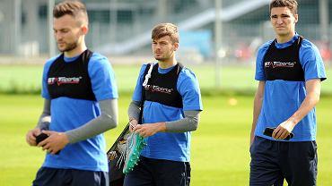 Lech Poznań trenuje przed meczem z Belenenses Lizbona w Lidze Europejskiej. Karol Linetty i Marcin Kamiński