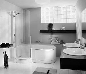 Wanna Z Prysznicem Wnętrza Aranżacje Wnętrz Inspiracje