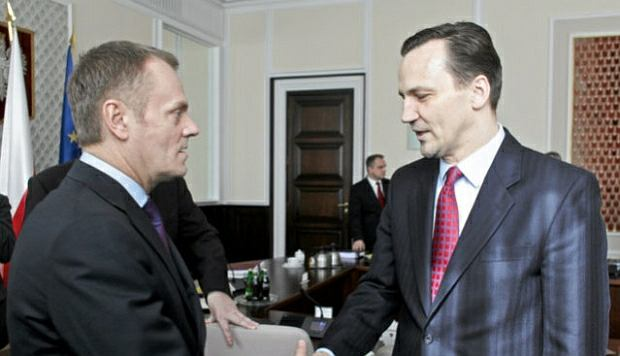Donald Tusk i Rados�aw Sikorski
