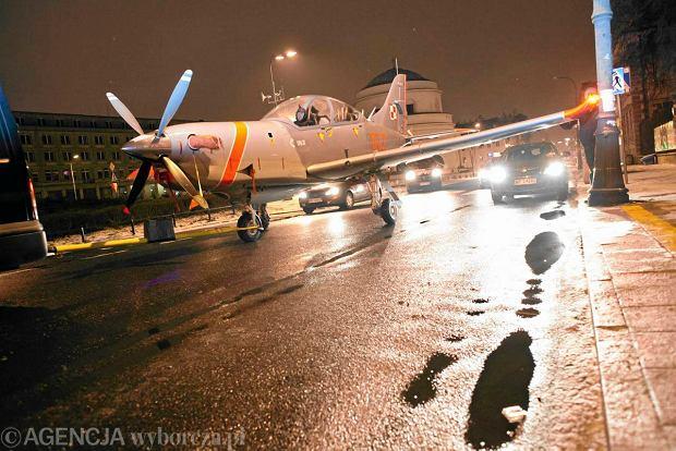 Samolot Orlik w Warszawie