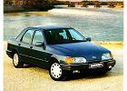 FORD Sierra Sedan 87-92, rok produkcji 1987, sedan, widok przedni prawy, samoch�d 4-drzwiowy, kolor niebieski jasny