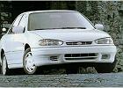 HYUNDAI Lantra  91-95, rok produkcji 1994, sedan, widok przedni prawy, samoch�d 4-drzwiowy, kolor bia�y