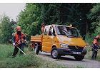 MERCEDES-BENZ Sprinter 311 CDI, rok produkcji 2000,  widok przedni prawy, samoch�d 4-drzwiowy, kolor pomara�czowy