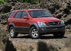 KIA Sorento 02-06, rok produkcji 2002, kombi, widok przedni prawy, samoch�d 5-drzwiowy, kolor czerwony jasny
