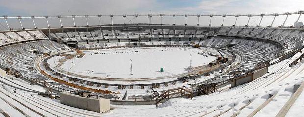 Panorama stadionu. Widok od strony trybuny zachodniej