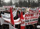 Warszawa: protest przeciwko likwidacji sądów rejonowych