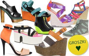 Modu�y kolorystyczne na butach, kolorowe obuwie damskie, wiosna 2012, lato 2012, trendy