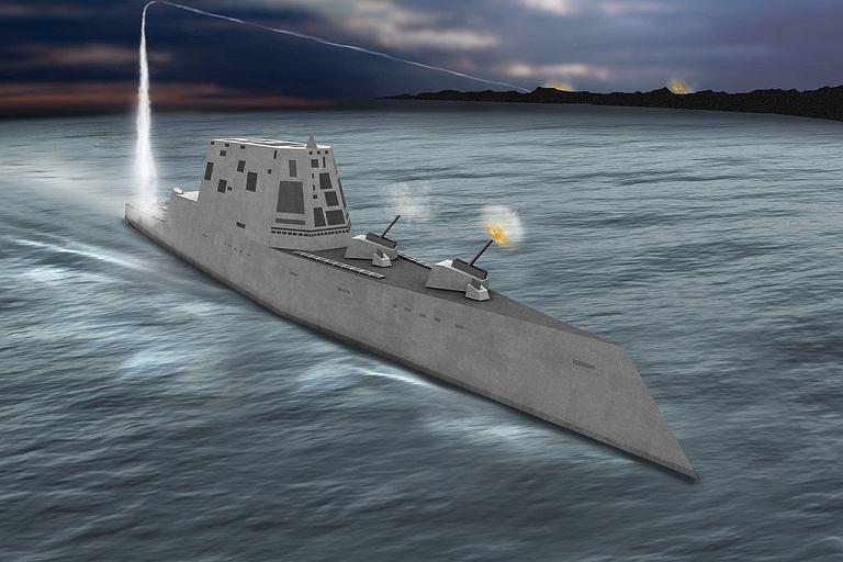 USS Zumwalt - wizja artysty