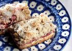 Ciastka owsiane z orzechami i malinami