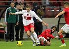 Obro�ca Jakub Piszczek podczas meczu Polska - Portugalia, 2012 r.