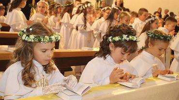Pierwsza Komunia Święta w Kościele Bożego Ciała.