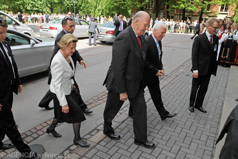 Król Norwegii Harald V i królowa Sonja