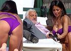 79-letni Belmondo ob�ciskuje si� z modelk� Playboya