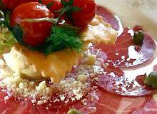 Carpaccio z marynowanej wołowiny - ugotuj