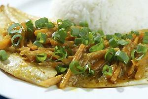 Menu dnia z ryb� w orientalnym stylu