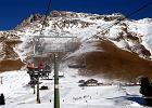 Narty w Południowym Tyrolu. Łysina z widokiem