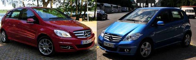 Nie rzucający się w oczy lifting najmniejszych Mercedesów (klasy A po prawej i B po lewej) to przede wszystkim krok w stronę ekologii i ekonomii.