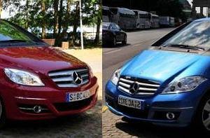 Mercedes klasy A i B - Znajdź różnice