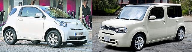 Toyota IQ i Nissan Cube