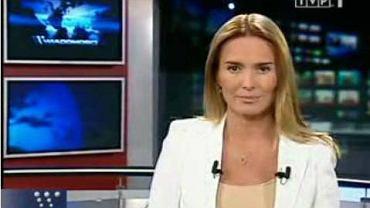 Hanna Lis w Wiadomościach (fot. za TVP)