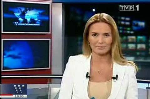 Hanna Lis w Wiadomo�ciach (fot. za TVP)