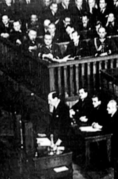 5.05.1939 r. Józef Beck przemawia w polskim Sejmie