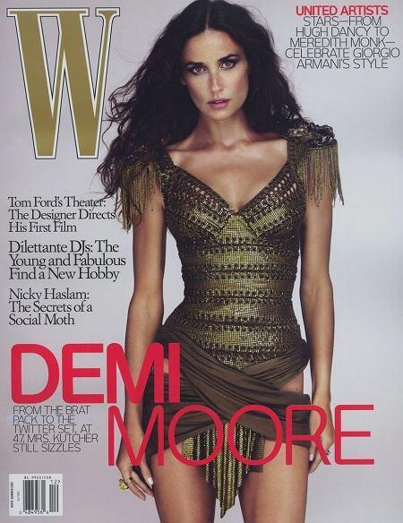 Demi Moore W Magazine grudzie� 2009