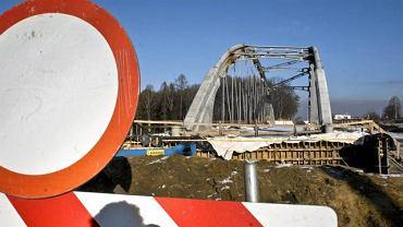 29 grudnia 2009 r. Skrzyszów w gminie Godów. Przerwana budowa autostrady A1