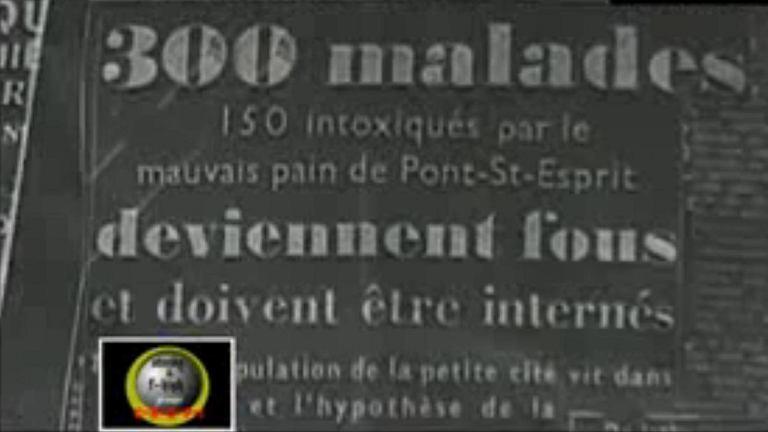 Kadr z telewizji France24. Przedstawia gazetę z 1951 roku z tytułem