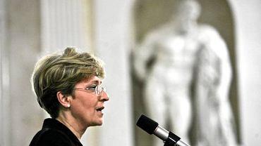 Elżbieta Radziszewska na konferencji ''Wizerunek kobiet i mężczyzn w reklamie'' (maj 2010 r.)
