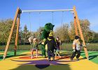 Park linowy i plac zabaw otworzono na Bemowie