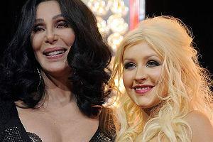 Cher i Christina Aguilera pojawiły się na premierze filmu Burlesque, w którym grają główne role.