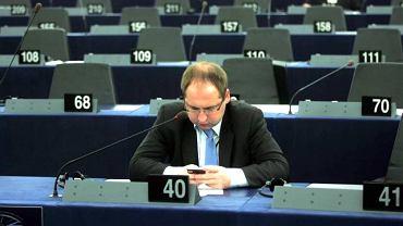 Adam Bielan na posiedzeniu Parlamentu Europejskiego w Strasburgu
