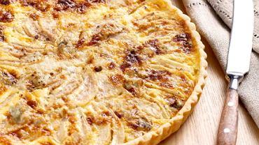 Tarta z gruszką i gorgonzolą
