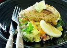 Kurczak w sosie oliwkowo-cytrynowym z sa�atk� z kuskus z cynamonem i kminem rzymskim