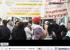 Protest w Wólce Kosowskiej. Kupcy zablokowali drogę