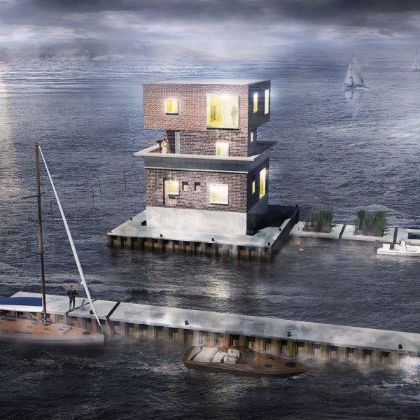 """Niszczej�ca na wodach Zatoki Puckiej ruina zmieni si� w apartament. """"Takiego budynku na �wiecie nie ma"""""""
