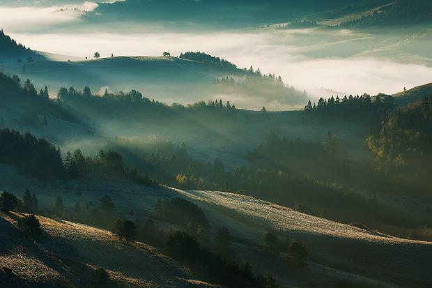 Poranek w pienińskich dolinach