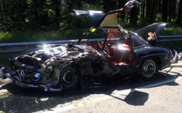 Mercedes 300SL Gullwing | Wypadek w trakcie Mille Miglia