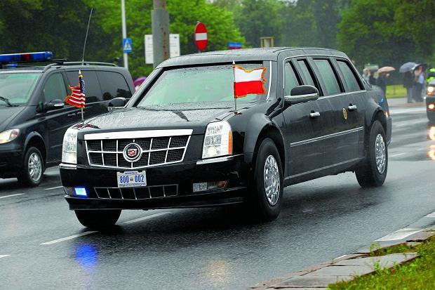 Cadillac One, czyli Bestia, którą prezydent Trump będzie jeździł po Warszawie