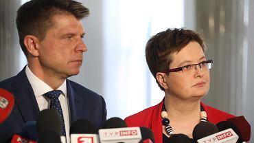 Katarzyna Lubnauer i Ryszard Petru