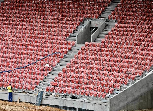 Zdjęcie numer 1 w galerii - Budowa stadionu Widzewa. Widać już napis