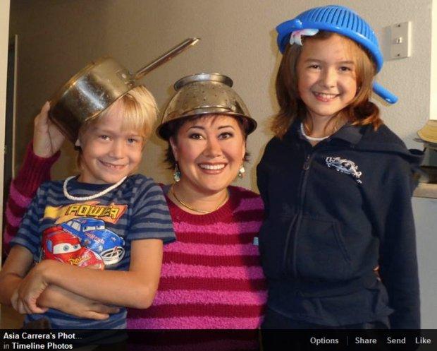 Asia Carrera z dziećmi