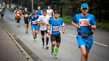 Na trasie Silesia Marathonu w 2014 roku